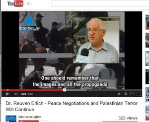 "ERLICH'S INVITATION TO SANDERS: The Meir Amit Intelligence and Information Center ""will receive him with all the honor and respect due him...Not even Hamas could dream up a figure as outrageous as 10,000 [innocent Gazan civilians killed]."" Screenshot: Reuven Erlich"