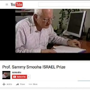 FACTS VS. FICTION: While Diaa Hadid of the New York Times wants readers of her Haifa feature to think that all Arab Israelis consider themselves Palestinians, the research of Sammy Smooha —a prize-winning University of Haifa sociologist —proves otherwise. (screenshot: Youtube video)